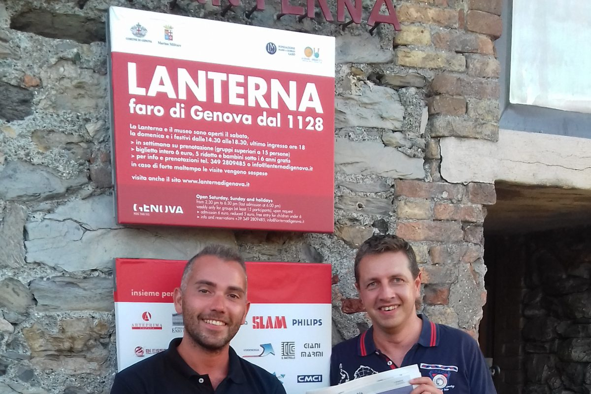 Andrea De Caro (Giovani Urbanisti) ed Enrico Alletto (Open Genova)